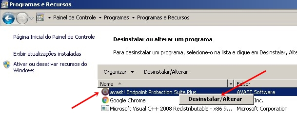 como desinstalar avast en windows 7